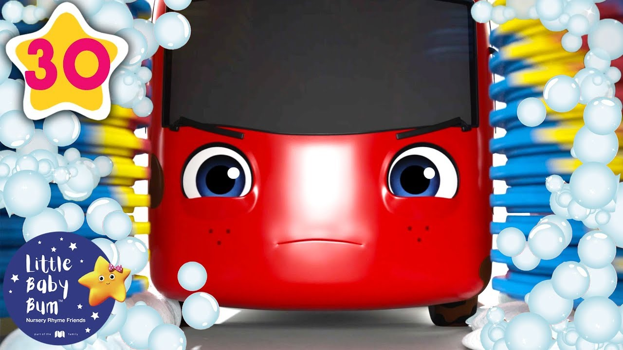 My Little Red Bus and The Carwash | Go Buster | Baby Songs