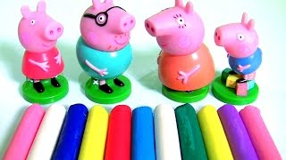 Clay Buddies Collection Peppa Learn Colors Shapes with Pig George Daddy Mommy Clay Creations