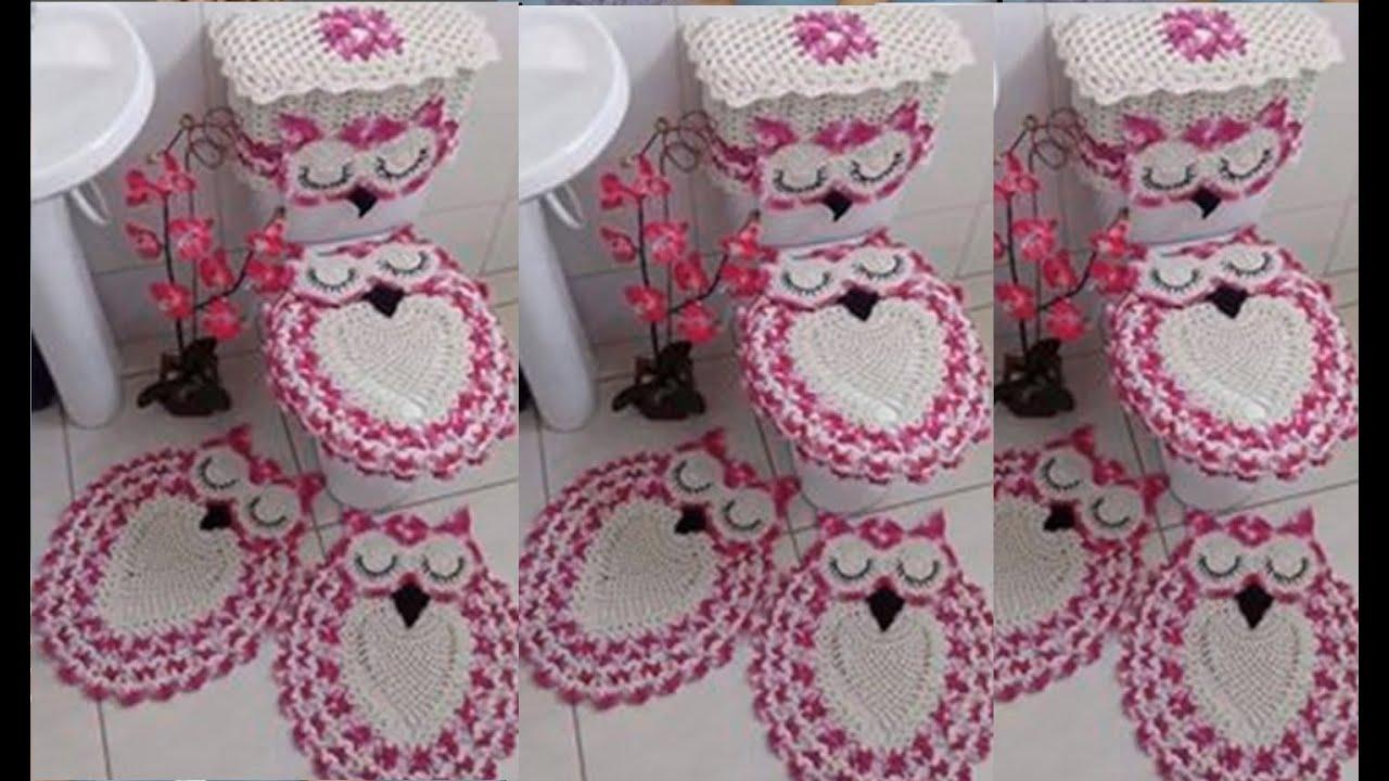 Set completo de adornos para tu ba o tejidos a crochet youtube Adornos a ganchillo
