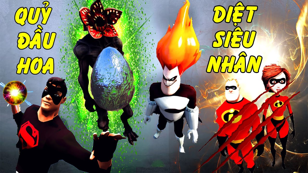 GTA 5 - Quái vật tiền cổ hủy diệt gia đình Siêu nhân | GHTG