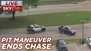 Raw: Pit Maneuver Ends High Speed Police Chase In Houston