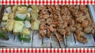 Tropical Jamaican Jerk Shrimp & Chicken Kabobs