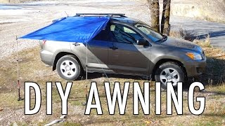 Easy DIY Awning for Vandwelling, Car Camping, and SUV RVing