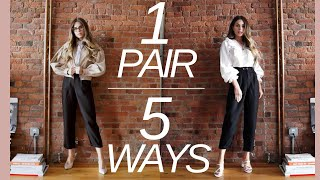 TOP 5 WAYS TO STYLE BLACK TROUSERS