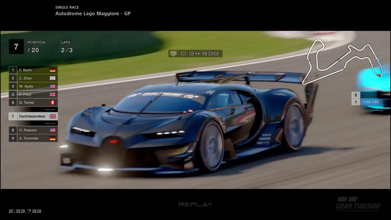 darth does gt - bugatti vision gran turismo gr.1 - youtube