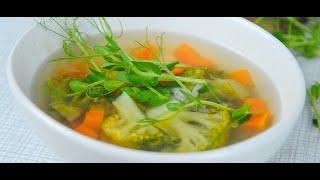 Простой и быстрый рецепт легкого овощного супа с брокколи🥦