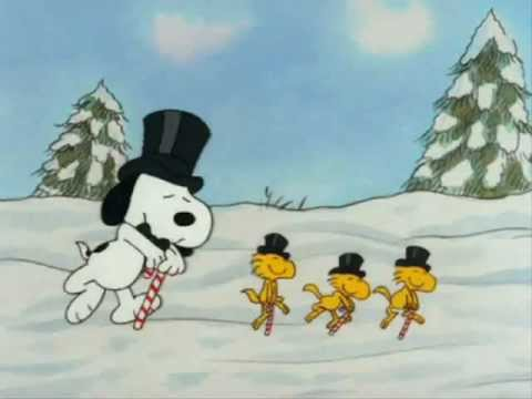 Snoopy And Woodstock Christmas.Merry Christmas Snoopy Style