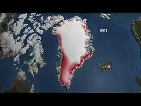 NASA Video Shows Greenland Melting