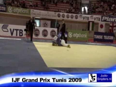 Judo 2009 Tunis: Zolnir (SLO) - Miraoui (TUN) [-63kg].