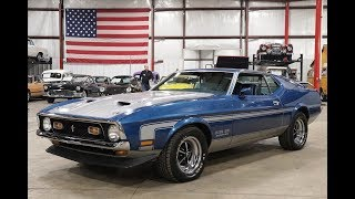 1971 Ford Mustang Boss 351 Blue