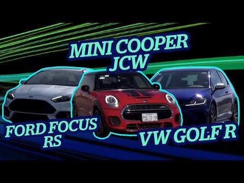 En Velocidad arrancón de Mini Cooper JCW, Ford Focus RS y Vw Golf R