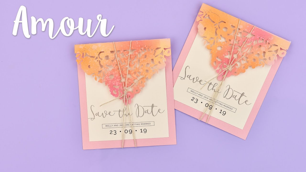 How To Make A Save The Date Card Sizzix Lifestyle Youtube