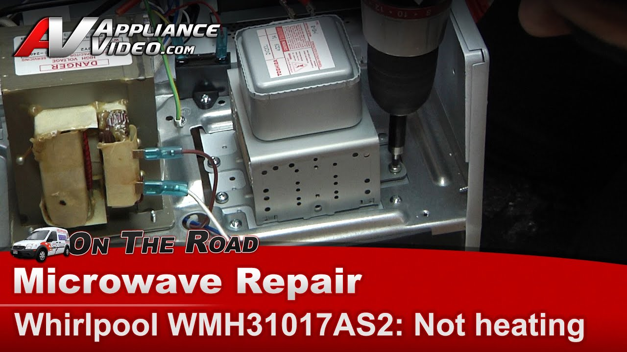 whirlpool microwave not heating magnetron high voltage diode repair diagnostic wmh31017as2