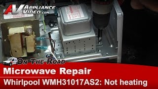 Whirlpool Microwave not heating - Magnetron & high voltage diode Repair & Diagnostic WMH31017AS2
