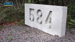 DIY – Gjut husnummer i betong
