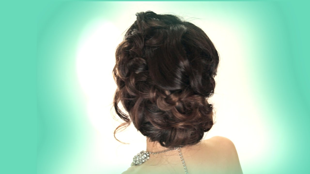 prom updo hairstyle | easy wedding braids hairstyles
