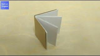 簡單摺紙書本教學 - 如何用簡單的方法製作一本迷你小書 筆記本 手工折紙DIY