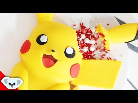 CHOCOLATE PIKACHU SURPRISE! | Detective Pikachu | Birthday Party Ideas | Cake Art | Koalipops