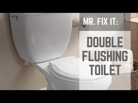 How to fix a double flushing toilet