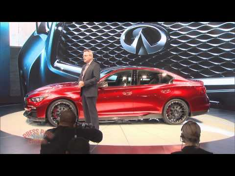 2014 Detroit Auto Infiniti Q50 Eau Rouge Press Conference