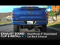 "F150 3.5L EcoBoost Heartthrob 4"" Aluminized Cat-Back Exhaust Sound Clip & Install 2015-2017"