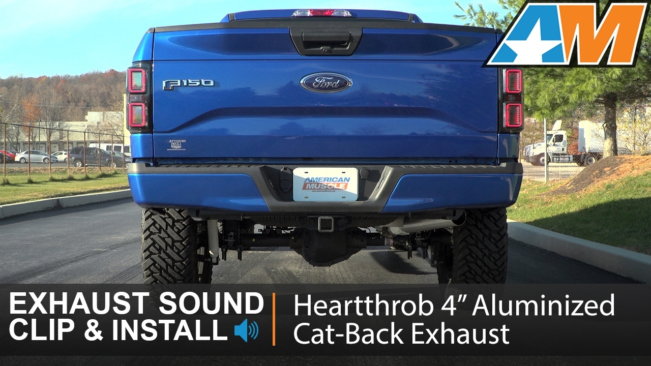 F150 3 5l ecoboost heartthrob 4 aluminized cat back exhaust sound clip install 2015 2017