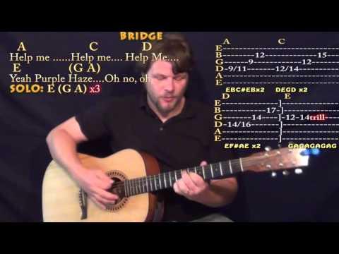 Purple Haze (Jimi Hendrix) Guitar Lesson Cover Lesson with Chords/Lyrics TAB