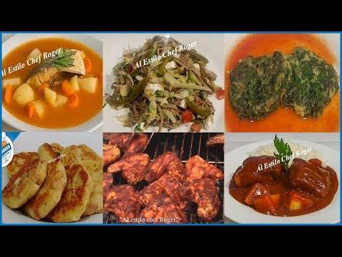 Menú SEMANAL #1, menú saludable, guisos caseros