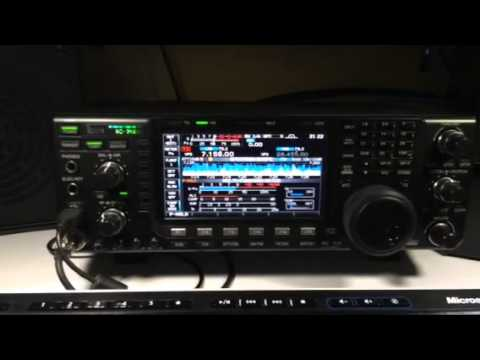 QSO with South Africa on Icom 7600