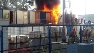 Пожар на стадионе «Динамо» в Москве