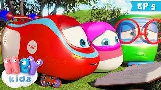 Trenulețele 🚂 Poezia - Desene animate pentru copii (ep. 5) | HeyKids