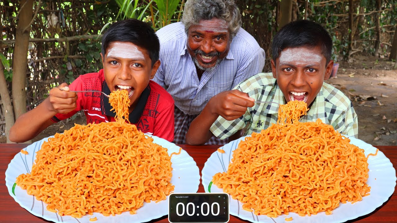 2X FIRE NOODLES EATING CHALLENGE | WORLD SPICY NOODLES EATING COMPETITION | ASMR FIRE NOODLES
