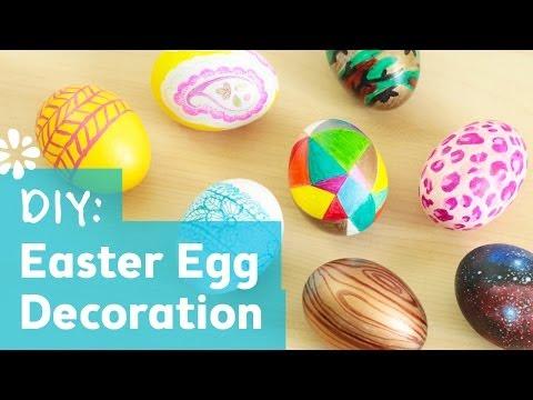 8 Cute & Easy DIY Easter Egg Decorating Ideas | Sea Lemon