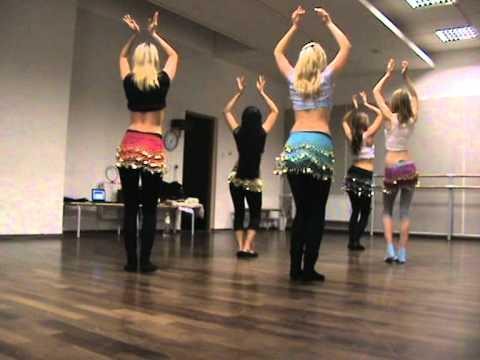 Belly Dance Beginners Choreography - Pussycat Dolls Jai Ho U0026 Panjabi MC