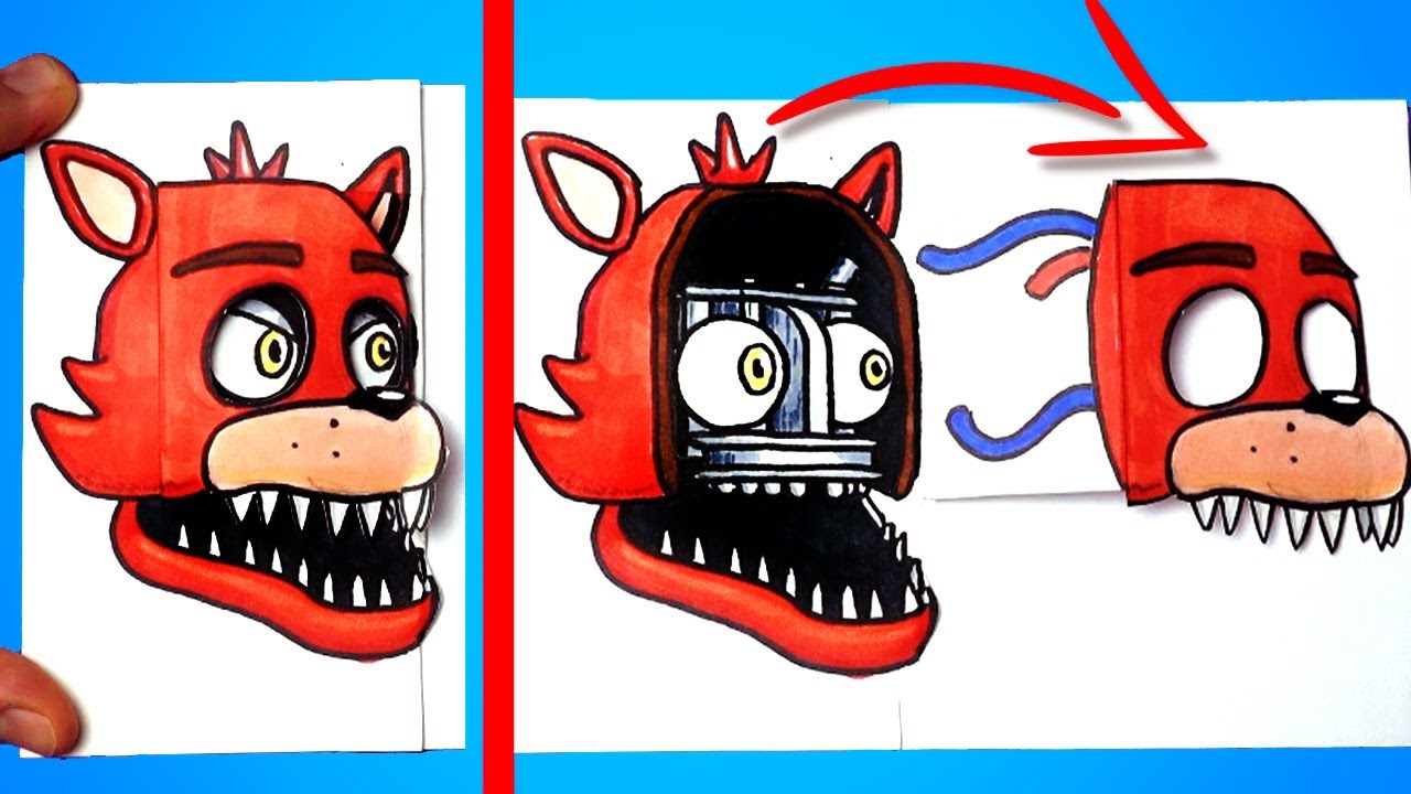 4 Amazing FNaF (Foxy, Freddy...) Paper Craft and Doodle for FANS