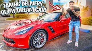 FINALLY PICKING UP MY DREAM CAR ! ( CORVETTE Z06 ) | BRAAP VLOGS
