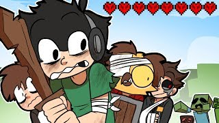 4 Men do HARDCORE MINECRAFT! ~ Minecraft Hard Mode Survival Ep.1