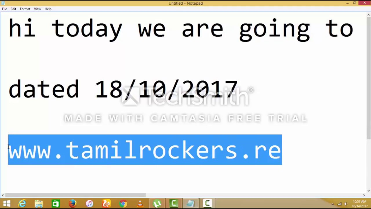 Download how to open tamilrockers DATED 18/10/2017