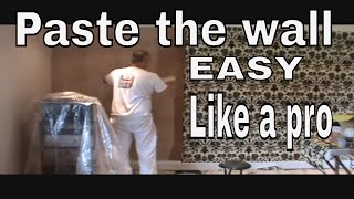 Paste the wall flock wallpapering