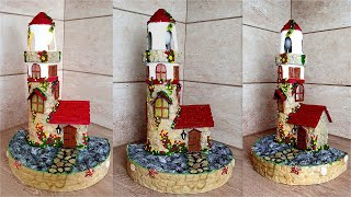 Best DIY Idea of Recycled Items / Lighthouse  of cardboard