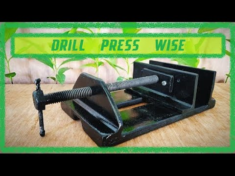 Drill press vise from angle iron and bar