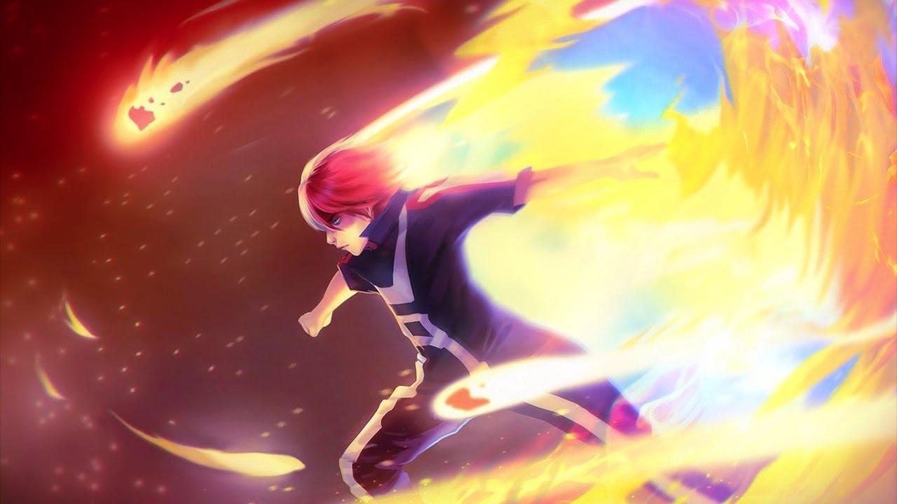 Image result for my hero academia todoroki vs midoriya anime
