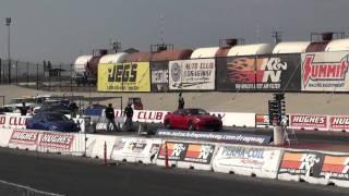 2009 nissan gt r stock vs 2008 lexus is f bpu 2nd run auto club speedway fontana