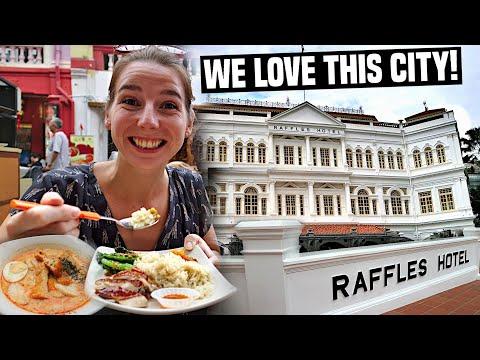 COLONIAL SINGAPORE (Raffles Hotel) PLUS Chinatown Food & Shopping   Singapore Travel