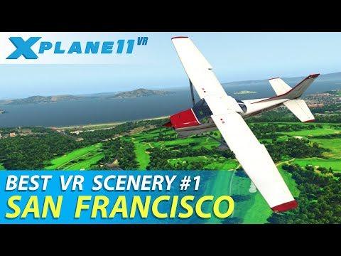 X-Plane 11 VR - Best Addons #1: San Francisco KSFO Scenery | Oculus Rift + Touch