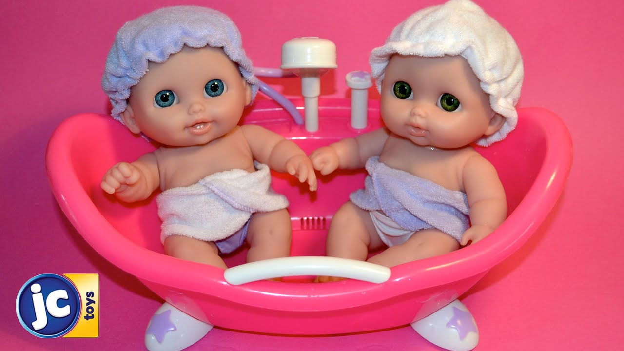 Baby Dolls Bath Time Lil Cutesies Twin Baby Dolls -Baby Dolls bath ...