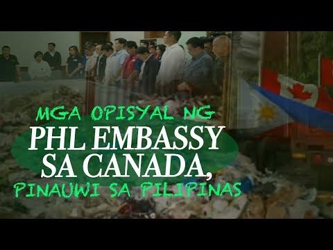 24 Oras: Mga opisyal ng PHL Embassy sa Canada, pinauwi sa Pilipinas matapos 'di masunod ng Canada...