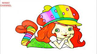 Strawberry Shortcake Dancing Princess For Girls - Kids Drawing And Coloring