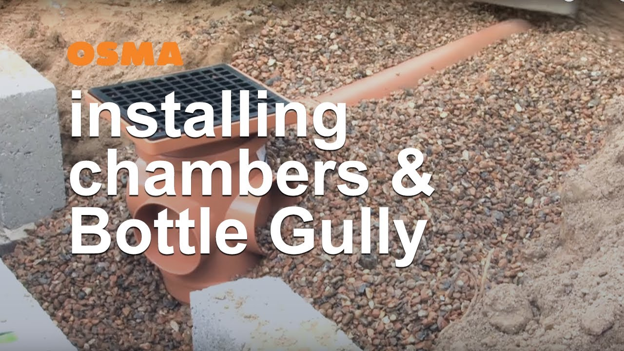How To Install Inspection Chambers Bottle Gully Osma Below Fitting Pvc Rucika Co 2 Clean Out C O Ground Youtube