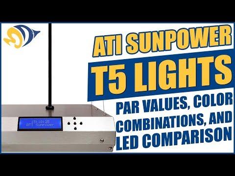 ATI SunPower T5 Lights: PAR Values, Color Combinations, and LED Comparison